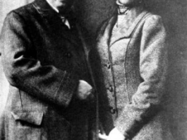 Móricz Zsigmond és felesége, 1908 körül